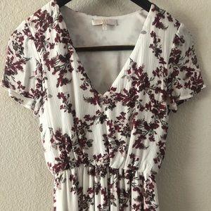 Wayf Floral Midi Dress, Small